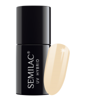 Semilac, 176 Lakier hybrydowy UV Hybrid Semilac Almond Butter 7 ml