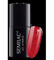 Semilac, 025 Lakier hybrydowy UV, Glitter Red, 7 ml