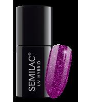 Semilac, 256 Lakier hybrydowy UV Hybrid Semilac Platinum Violet 7ml