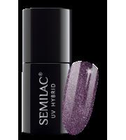 Semilac, 257 Lakier hybrydowy UV Hybrid Semilac Platinum Rose Brown 7ml