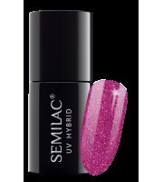 Semilac, 258 Lakier hybrydowy UV Hybrid Semilac Platinum Intense Pink 7ml