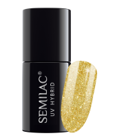 Semilac, 261 Lakier hybrydowy UV Hybrid Semilac Platinum Yellow Gold 7ml