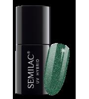 Semilac, 262 Lakier hybrydowy UV Hybrid Semilac Platinum Green 7ml