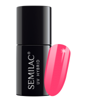 Semilac, 042 Lakier hybrydowy UV, Neon Raspberry, 7 ml