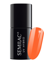Semilac, 045 Lakier hybrydowy UV, Electric Orange, 7 ml