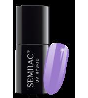 Semilac, 280 Lakier hybrydowy UV Hybrid Semilac PasTells Medium Violet 7ml