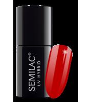 Semilac, 063 Lakier hybrydowy UV, Legendary Red, 7 ml