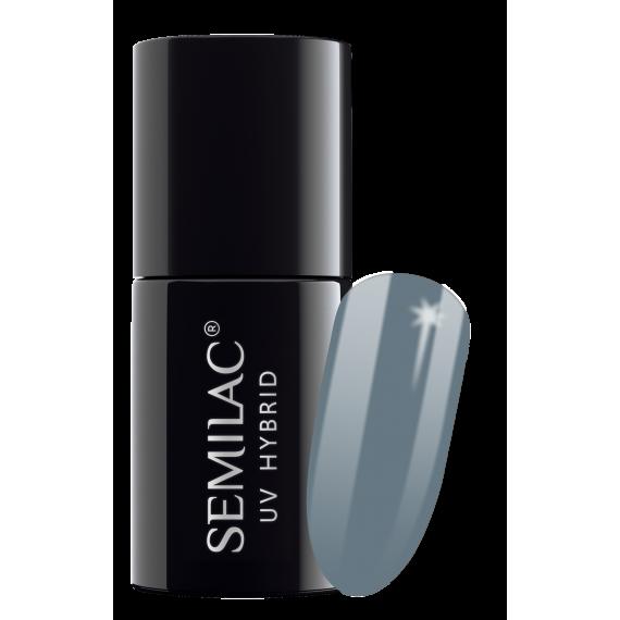 Semilac, 525 Lakier hybrydowy UV Hybrid Semilac Legendary Six by Margaret Navy Grey 7ml