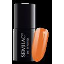 Semilac, 528 Lakier Hybrydowy UV Hybrid Semilac Legendary Six by Margaret Orange 7ml