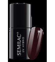 Semilac, 076 Lakier hybrydowy UV, Black Coffee, 7 ml