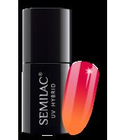 Semilac, 642 Lakier hybrydowy UV Hybrid Semilac Thermal Red&Orange 7ml
