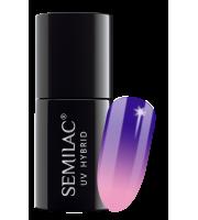 Semilac, 647 Lakier hybrydowy UV Hybrid Semilac Thermal Indigo&Lilac 7ml