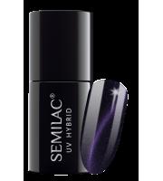 Semilac, 615 Lakier hybrydowy Semilac Cat Eye Violet, 7 ml