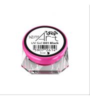 Żel SemiArt, UV Gel 001 Black, 5 ml