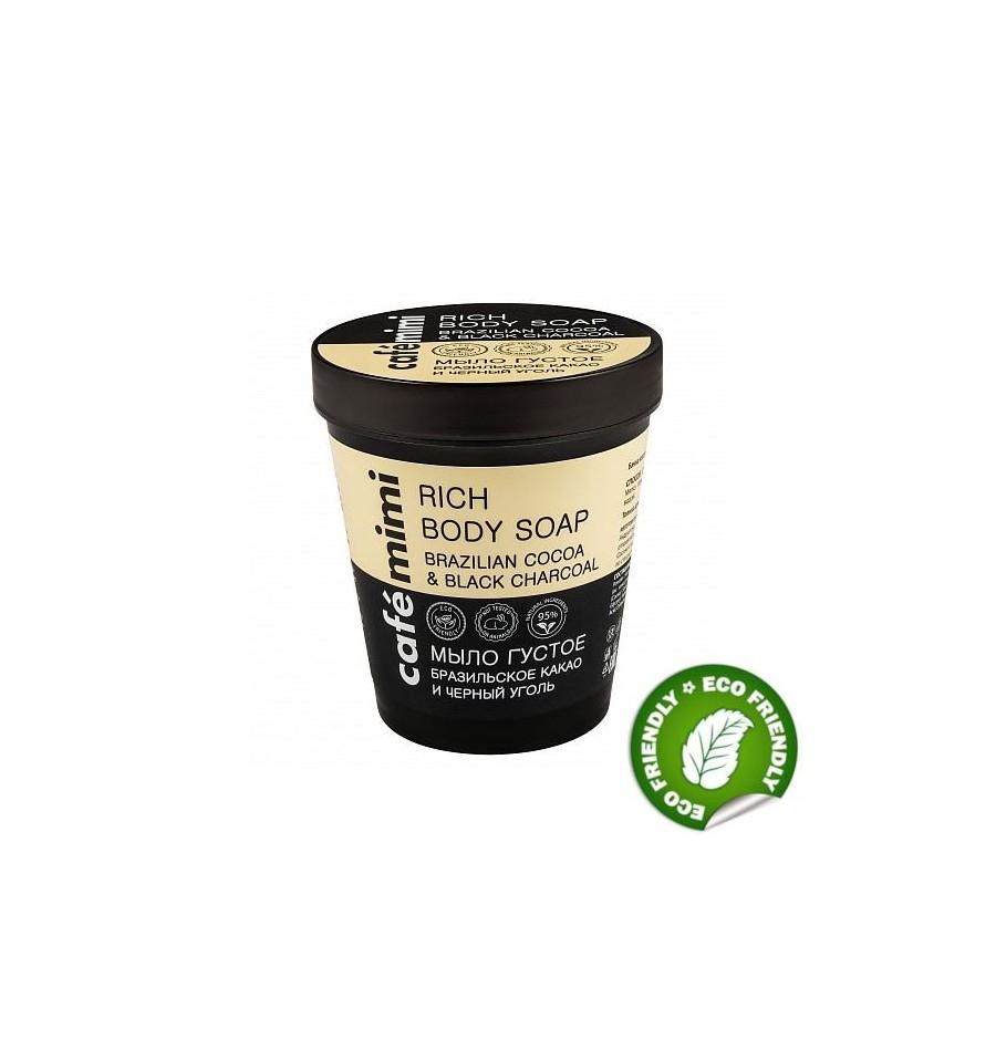 Le Cafe Mimi, Mydło do ciała KAKAO, WĘGIEL, 220 ml