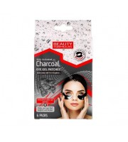 Beauty Formulas, Żelowe płatki pod oczy z aktywnym węglem, 6 par