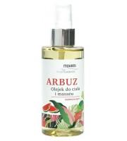 Mohani, Nawilżający olejek do ciała i masażu Arbuz, 150 ml
