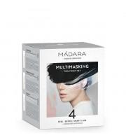 Madara, Multitasking Treatment Set 4, Zestaw maseczek i ampułek do pielęgnacji twarzy, 4x12,5 ml + 2x3 ml