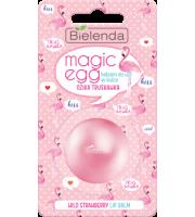 Bielenda, Magic Egg, Balsam do ust w kulce, Dzika Truskawka, 8,5 g