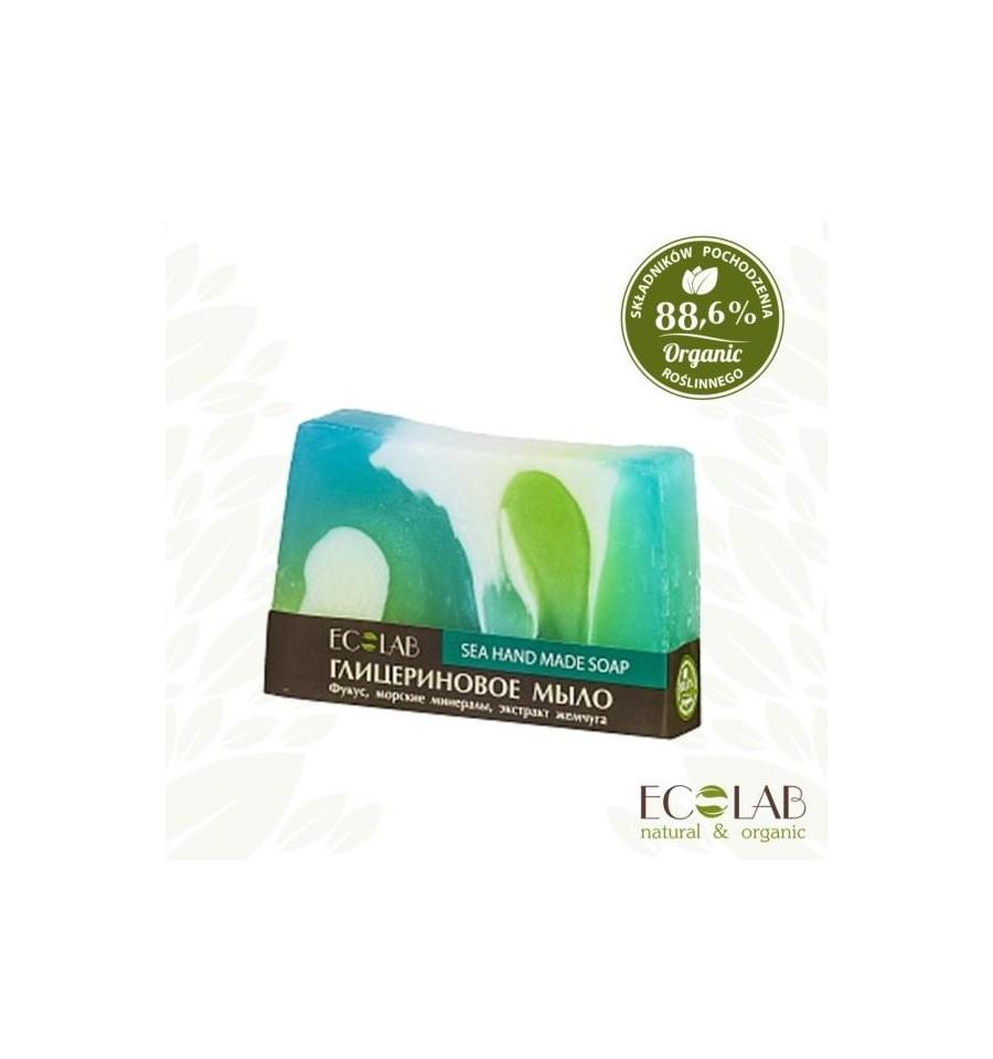 ECOLAB, Naturalne mydło glicerynowe - ręcznie robione - morskie, 130 g
