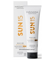 MÁDARA, Sun 15 Shimmering Sunscreen SPF 15, Krem BB do ciała i rąk, 100 ml
