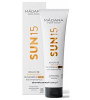 MÁDARA, Sun 15 Shimmering Sunscreen SPF 15, Krem BB do ciała i rąk, 100 ml