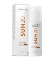MÁDARA, Sun 20, Weightless Sun Milk SPF 20, Mleczko ochronne do twarzy i rąk, 150 ml