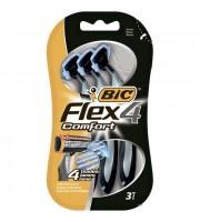 BIC, Flex 4 Comfort, 4 ostrza, 3 sztuki