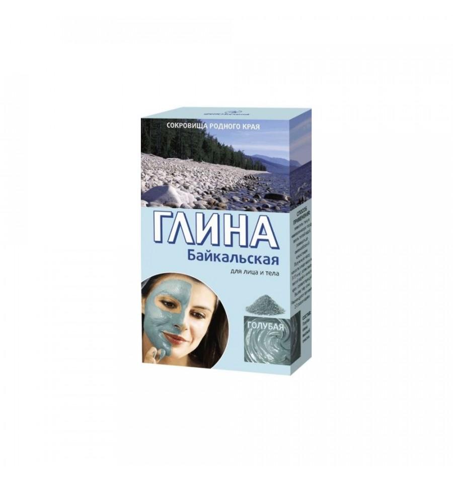 Fitokosmetik, Bajkalska glinka kosmetyczna - błękitna, odmładzająca do twarzy i do ciała, 100 g