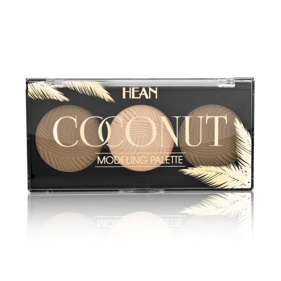 Hean, Coconut Modeling Pallete, Paletka do modelowania twarzy o zapachu kokosa