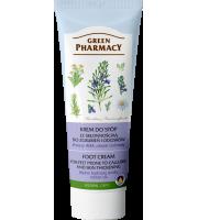 Green Pharmacy, Krem do stóp przeciw odciskom i zgrubieniom Kwasy AHA, Olejek cedrowy, 75 ml