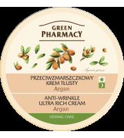 Green Pharmacy, Przeciwzmarszczkowy krem tłusty Argan, 150 ml
