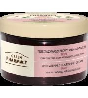 Green Pharmacy, Przeciwzmarszczkowy krem odżywczy Róża, 150 ml