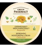 Green Pharmacy, Odświeżający krem nawilżający, Nagietek, 150 ml