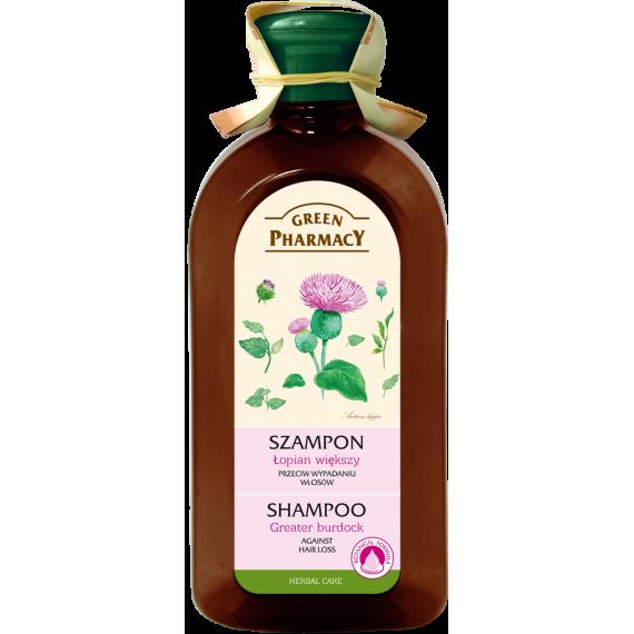 Green Pharmacy, Szampon do każdego rodzaju włosów przeciw wypadaniu Łopian większy, 350 ml