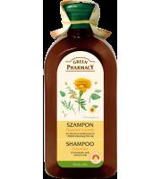 Green Pharmacy, Szampon do włosów normalnych i przetłuszczających się Nagietek lekarski, 350 ml