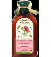 Green Pharmacy, Balsam do włosów suchych i zniszczonych Olej Arganowy i Granat, 300 ml