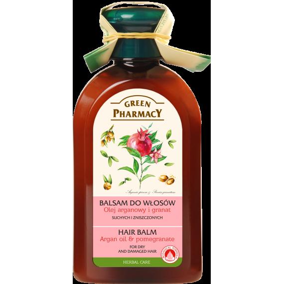 Green Pharmacy, Balsam do włosów suchych i zniszczonych Olej Araganowy i Granat, 300 ml