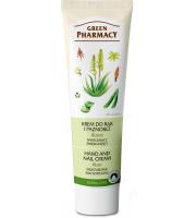 Green Pharmacy, Krem do rąk i paznokci nawilżający, zmiękczający Aloes, 100 ml