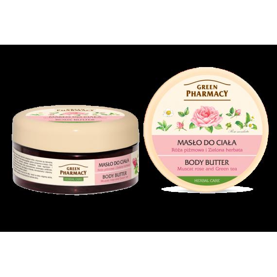 Green Pharmacy, Masło do ciała Róża Piżmowa i Zielona Herbata, 200 ml