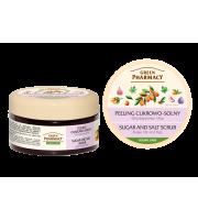 Green Pharmacy, Peeling cukrowo - solny Olej arganowy i Figi, 300 ml