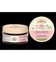 Green Pharmacy, Peeling cukrowy Róża piżmowa i Zielona herbata, 300 ml