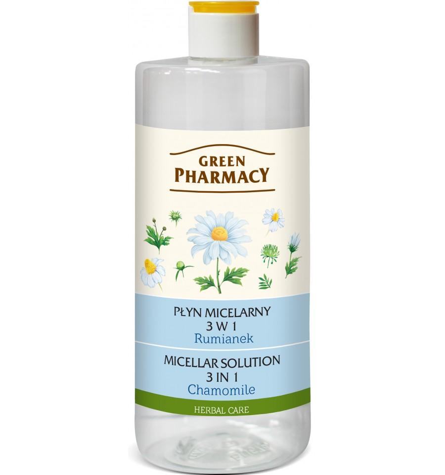 Green Pharmacy, Płyn micelarny 3 w 1 Rumianek, 500 ml