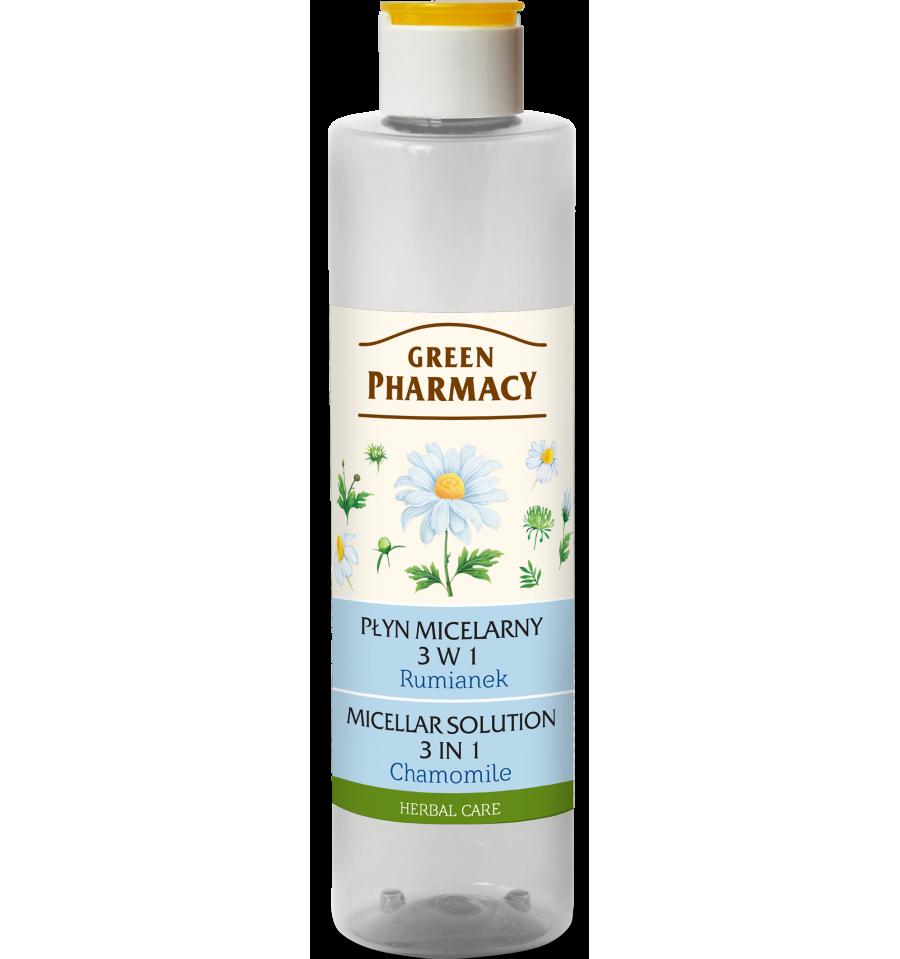 Green Pharmacy, Płyn micelarny 3 w 1 Rumianek, 250 ml