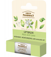 Green Pharmacy, Balsam do ust aloes i limonka SPF 10, 3,6 g