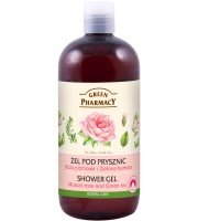 Green Pharmacy, Żel pod prysznic Róża piżmowa i Zielona herbata, 500 ml
