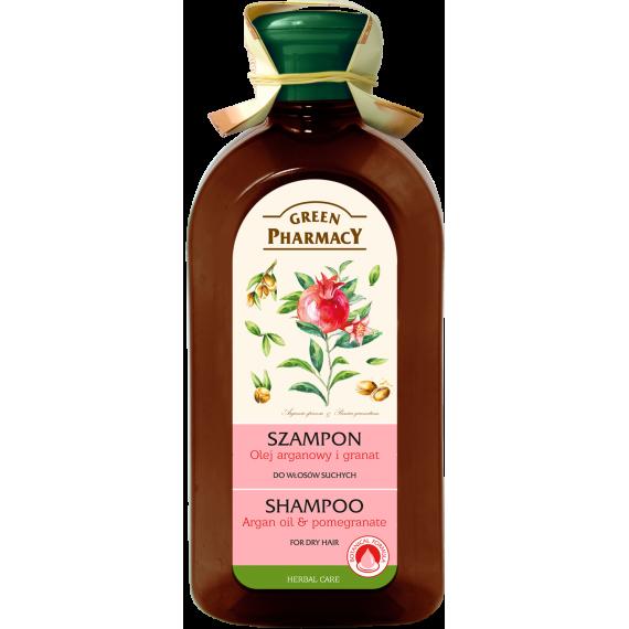 Green Pharmacy, Szampon do włosów suchych Olej arganowy i Granat, 350 ml