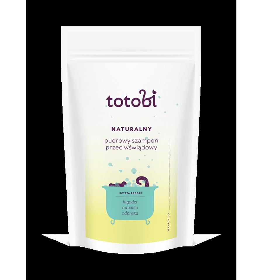 Totobi, Naturalny pudrowy szampon przeciwświądowy do skóry i sierści zwierząt, 100 g