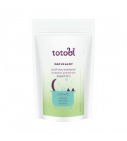 Totobi, Naturalny pudrowy szampon przeciw przykrym zapachom do skóry i sierści zwierząt, 100 g