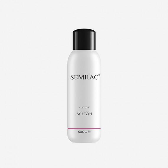 Semilac, Zmywacz do lakieru hybrydowego (aceton), Semilac Acetone, 500 ml